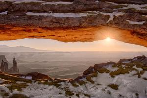 USA, Utah, Sunrise at Mesa Arch, Canyonlands National Park, Dawn by John Ford