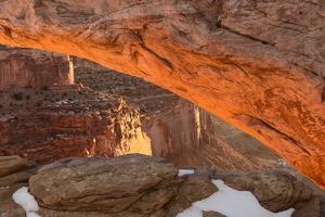 USA, Utah, Sunrise at Mesa Arch, Canyonlands National Park by John Ford