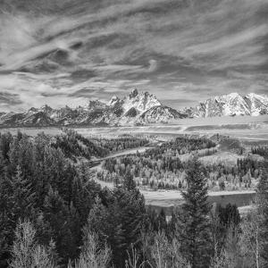 USA, Wyoming, Grand Teton National Park, Snake River Overview by John Ford
