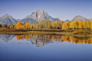 USA, Wyoming, Grand Teton NP, Mount Moran from Oxbow Junction by John Ford