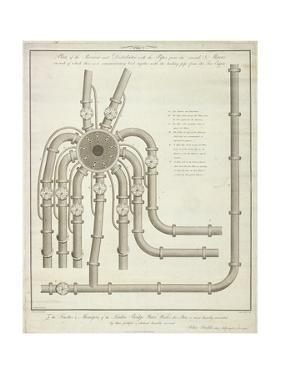 Plan of a Receiver and Distributor at the London Bridge Waterworks, 1780 by John Foulds