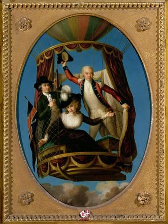 Captain Vincenzo Lunardi with His Assistant George Biggin and Mrs Letitia Anne Sage, in a Balloon