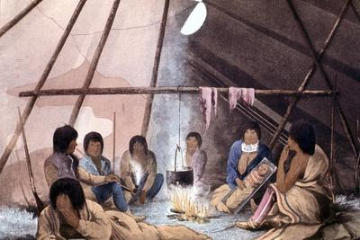 Interior of Cree Indian Tent, 1823