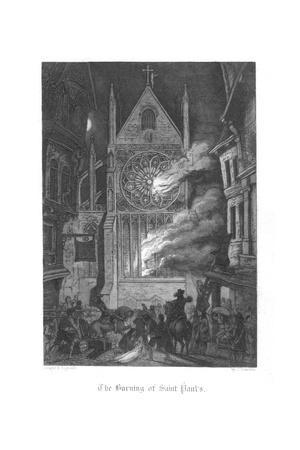 Scene from Old St Paul's by William Harrison Ainsworth, 1855