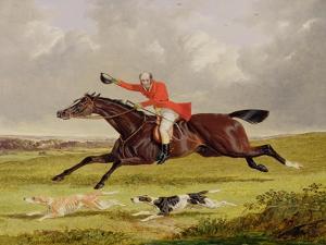 Encouraging Hounds, 1839 (Oil on Panel) by John Frederick Herring I