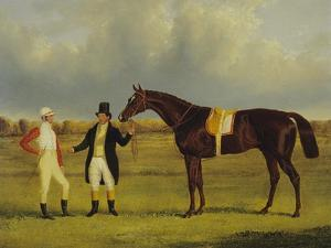 'Euclid' with His Jockey Conolly and Trainer Pettit by John Frederick Herring I
