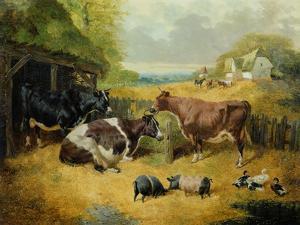 Farmyard Scene, 1853 by John Frederick Herring I