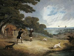 Partridge Shooting at Six Mile Bottom, 1833 by John Frederick Herring I