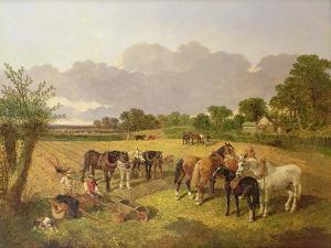 Resting Plough Team by John Frederick Herring I