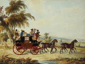 The Brighton - London Coach on the Open Road, 1831 by John Frederick Herring I