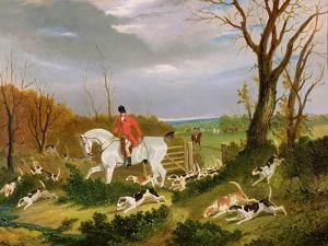 The Suffolk Hunt - Going to Cover Near Herringswell by John Frederick Herring I