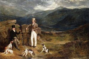 Two Gentlemen with Pointers on a Grouse Moor, 1824 by John Frederick Herring I