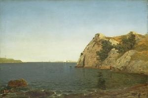 Beacon Rock, Newport Harbour, 1857 by John Frederick Kensett