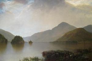 Lake George Landscape by John Frederick Kensett