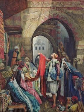 A Cairo Bazaar - the Della'L, 1875 (W/C Heightened with Bodycolour and Gum Arabic on Paper) by John Frederick Lewis