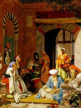 And the Prayer of Faith Shall Save the Sick', from James 5:15 (Oil on Panel) by John Frederick Lewis