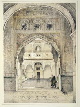 Door of the Hall of Ambassadors, from 'Sketches and Drawings of the Alhambra', engraved by William  by John Frederick Lewis