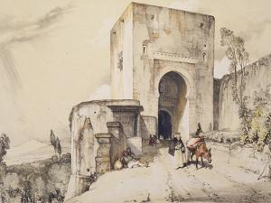 Gate of Justice (Puerta De Justitia), from 'Sketches and Drawings of the Alhambra', 1835 by John Frederick Lewis