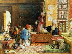 Interior of a School, Cairo, 1890 by John Frederick Lewis