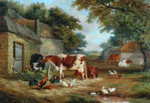 Farmyard, 1856 by John Frederick Senior Herring