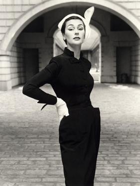 Anne Gunning in a Velveteen Evening Coat, 1952 by John French