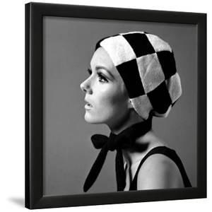 Black and White Checked Bonnet, 1960s by John French