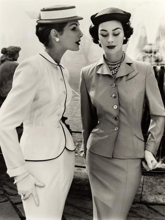 Fiona Campbell-Walter and Anne Gunning in Tailored Suits, 1953