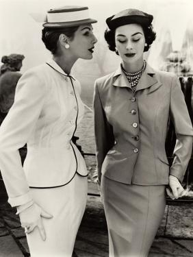 Fiona Campbell-Walter and Anne Gunning in Tailored Suits, 1953 by John French