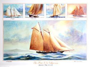 Five US Schooners 1851-1876 by John Gable