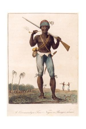 A Coromantyn Free Negro, or Ranger, Armed, Engraved by William Blake (1757-1827), Published 1806