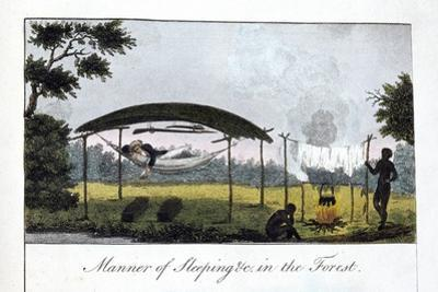 Manner of Sleeping in the Forest, 1813