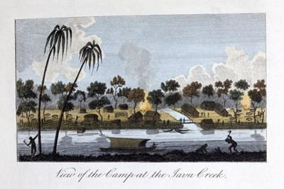 View of the Camp at the Java Creek, 1813
