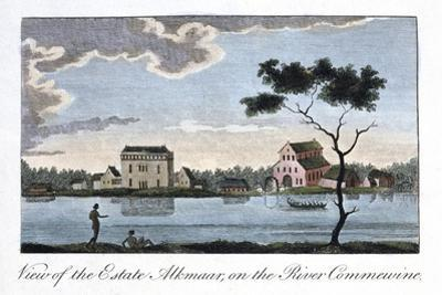 View of the Estate Alkmaar, on the River Commewine, 1813