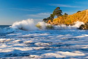 Capitola Cliffs & Waves by John Gavrilis