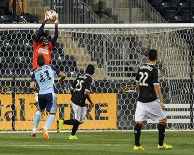 2014 MLS U.S. Open Cup: Jun 17, Harrisburg City Islanders vs Philadelphia Union - Andre Blake by John Geliebter