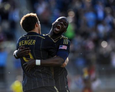 Apr 12, 2014 - MLS: Real Salt Lake vs Philadelphia Union - Maurice Edu, Andrew Wenger