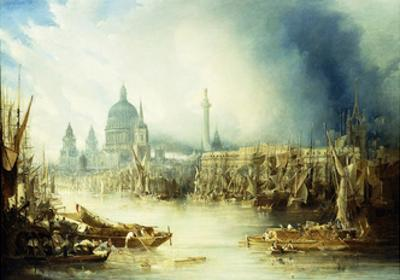 A View of London with St