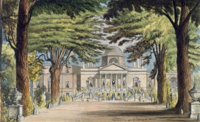 Principal Front of Chiswick House, from R. Ackermann's