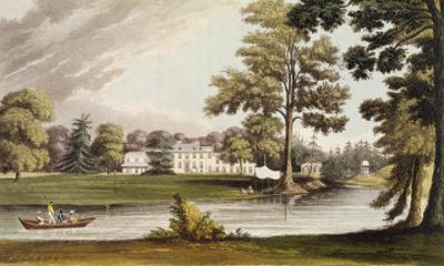 Stoke Place, from Ackermann's 'Repository of Arts', Published C.1826