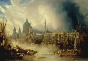 View of St Paul's from the Thames by John Gendall