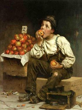 A Boy Eating Apples, 1878 by John George Brown