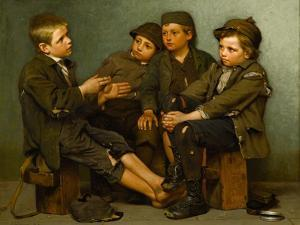 A Tough Story, 1886 by John George Brown