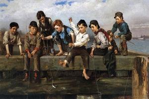 Boys Fishing, 1880 by John George Brown