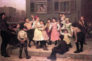 Children Dancing in the Street, 1894 by John George Brown