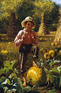 That's Me Pumpkin, 1879 by John George Brown