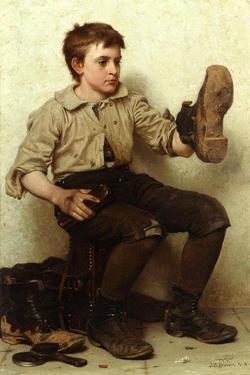 The Boot Boy, C.1885-90 by John George Brown