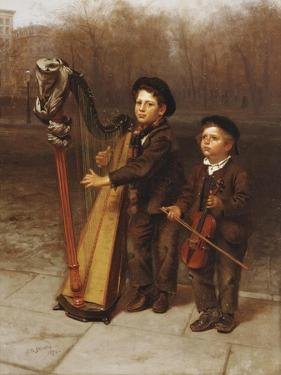 The Little Strollers, 1874 by John George Brown