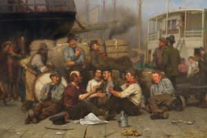 The Longshoremen's Noon, 1879 by John George Brown