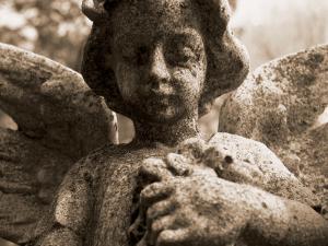 Guardian Angel in Cemetery by John Glembin