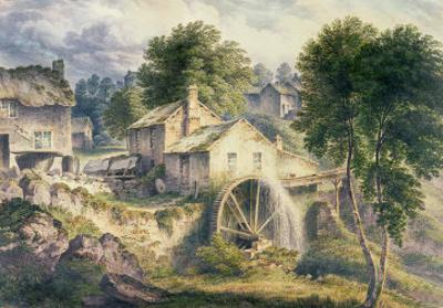 Mill in Bonsall Dale, Derbyshire by John Glover